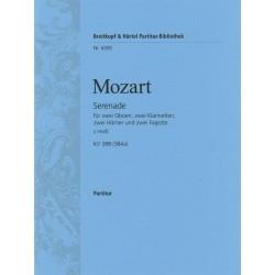 Mozart, Wolfgang Amadeus: Serenade c-Moll KV388 für 2 Oboen, 2 Klarinetten, 2 Hörner und 2 Fagotte Partitur