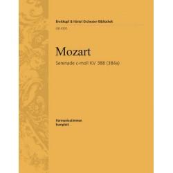 Mozart, Wolfgang Amadeus: Serenade c-Moll KV388 für 2 Oboen, 2 Klarinetten, 2 Hörner und 2 Fagotte Stimmen