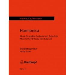 Lachenmann, Helmut: Harmonica : für Tuba und Orchester Studienpartitur