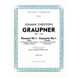 Graupner, Christoph: Konzert D-Dur für Trompete, Streicher uind Bc Partitur