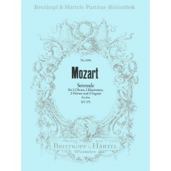 Mozart, Wolfgang Amadeus: SERENADE NR. 11 ES-DUR, K. V. 375 PARTITUR