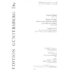 Kühnel, August: Sonate o Partite Band 2 (Sonatinas Nr.4-6) : für 2 Violen da Gamba und Bc Partitur mit ausgesetztem