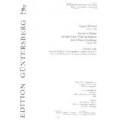 Kühnel, August: Sonate o Partite Band 1 (Sonaten Nr.1-3) : für 2 Violen da Gamba und Bc Partitur mit ausgesetztem Bc/Generalbaß