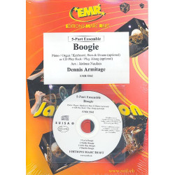 Armitage, Dennis: Boogie (+CD): for flexible ensemble (keyboard, guitar drums ad lib) score and parts
