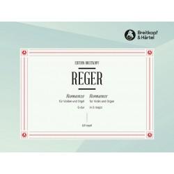 Reger, Max: Romanze G-Dur : f├╝r Violine und Orgel