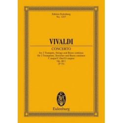 Vivaldi, Antonio: Konzert C-Dur op.46,1 : für 2 Trompeten und Streichorchester Studienpartitur