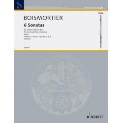 Boismortier, Joseph Bodin de: 6 Sonaten op.7 Band 2 (2,5,6) : für 3 Flöten ohne Baß Spielpartitur