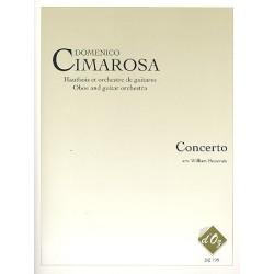 Cimarosa, Domenico: Concerto : for oboe and guitar orchestra score and parts