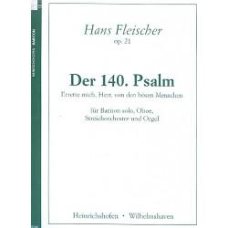 Fleischer, Hans: Errette mich Herr von den bösen Menschen op.21 : für Bariton, Oboe, Streichorchester und Orgel, Partitur