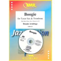 Armitage, Dennis: Boogie (+CD) : für Tenorsaxophon, Posaune und Klavier