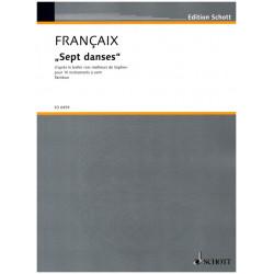 Francaix, Jean: SEPT DANCES D'APRES LE BALLET FUER 10 BLASINSTR., PARTITUR PARTITUR