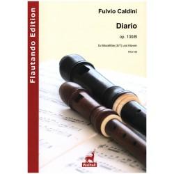 Caldini, Fulvio: Diario op.130b für Blockflöte (S/T) und Klavier