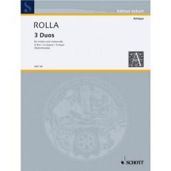 Rolla, Alessandro: Duo A-Dur Nr.3 für Violine und Violoncello, 2 Spielpartituren