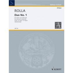 Rolla, Alessandro: Duo B-Dur Nr.1 für Violine und Violoncello 2 Spielpartituren