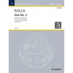 Rolla, Alessandro: Duo Nr.2 D-Dur : für Violine und Violoncello 2 Spielpartituren