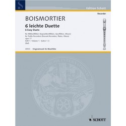 Boismortier, Joseph Bodin de: 6 leichte Duette op.17 Band 1 (Nr.1-3) : für 2 Altblockflöten (Sopranblockflöten, Flöten, Oboen)