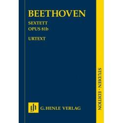 Beethoven, Ludwig van: Sextett Es-Dur op.81b : für 2 Hörner, 2 Violinen, Viola und Violoncello (Kontrabass) Studienpartitur