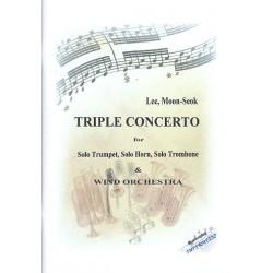 Tripel-Konzert : für Trompete, Horn, Posaune und Blasorchester Partitur und Stimmen