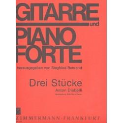 Diabelli, Anton: 3 Stücke : für Gitarre und Klavier