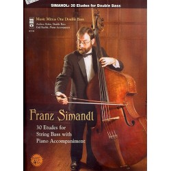 Simandl, Franz: 30 Etudes (+CD) : for string bass and piano