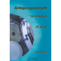 Nießner, Jürgen: Schlagzeugunterricht von Anfang an : für 2 verschiedene Instrumente Spielpartitur
