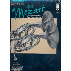 Mozart, Wolfgang Amadeus: 12 Duets (+CD) : for 2 horns