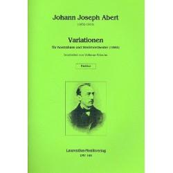 Abert, Johann Josef: Variationen : f├╝r Kontrabass und Streichorchester Partitur