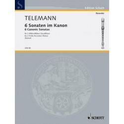 Telemann, Georg Philipp: 6 kanonische Sonaten : für 2 Altblockflöten Spielpartitur