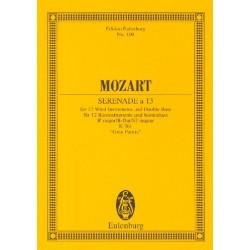 Mozart, Wolfgang Amadeus: Serenade a 13 B-Dur KV361 für 12 Bläser und Kontrabaß Studienpartitur
