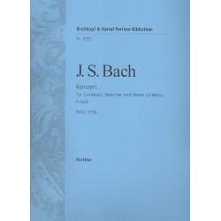 Bach, Johann Sebastian: Konzert f-Moll BWV1056 : f├╝r Cembalo, Streicher und Bc Partitur