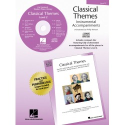Classical Themes Level 2 for piano : CD with orchestrated accompaniments