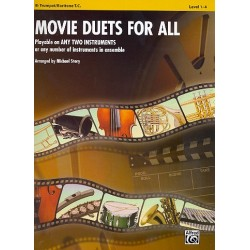 Movie Duets for all : for 2 instruments (2-part ensemble) trumpet/baritone T.C. score