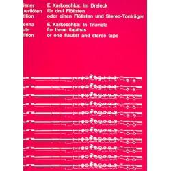 Karkoschka, Erhard: Im Dreieck : für drei Flötisten (1975) Partitur