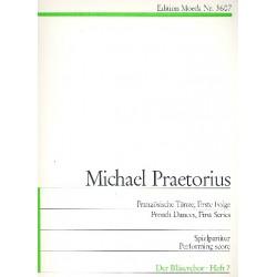 Praetorius, Michael: Terpsichore : Franzoesische Tänze zu 4 Stimmen (erste Folge) Partitur