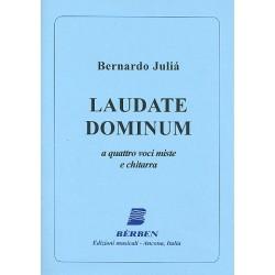 Juliá, Bernado: Laudate Dominum : für 4 Stimmen (gem Chor) und Gitarre Paetitur und Gitarrenstimme