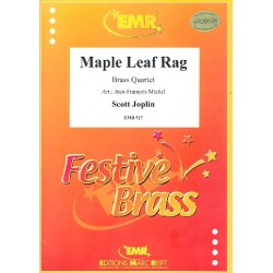 Joplin, Scott: Maple Leaf Rag : for 2 trumpets, horn (trombone) and trombone score and parts
