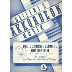 Fries, Peter: Das sch├Ânste Bl├╝merl auf der Alm : f├╝r Klavier (mit Text dunA kkorden)