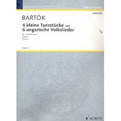 Bart├│k, B├®la: 4 kleine Tanzst├╝cke und 6 ungarische Volkslieder : f├╝r Streichorchester, Partitur