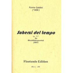 Caldini, Fulvio: Scherzi del tempo op.117 für 4 Blockflöten (TT(T)BB(Gb)) Partitur und Stimmen