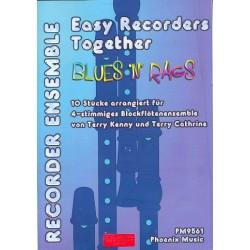 Blues'n'Rags : für 4 Blockflöten (Ensemble) Partitur und Stimmen