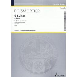 Boismortier, Joseph Bodin de: 6 Suiten op.35 : f├╝r Altblockfl├Âte solo