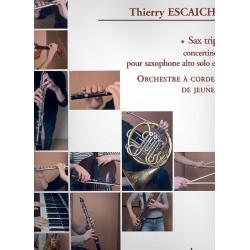 Escaich, Thierry: Sax Trip (+CD) : pour saxophone alto et orchestre à cordes (de jeunes) partition