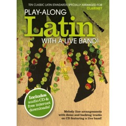 Playalong Latin with a Live Band (+CD) : for clarinet