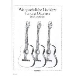 Weihnachtliche Liedsätze : für 3 Gitarren, Partitur