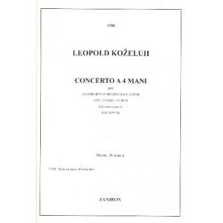 Kozeluch, Leopold Anton Thomas: Concerto : per pianoforte a 4 mani, 2 oboi, 2 corni e orchestra d'archi parti d'orchestra