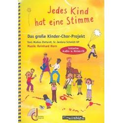 Horn, Reinhard: Jedes Kind hat eine Stimme (+2 CD's) : Chorbuch mit Noten der Chorsätze zum Ausdrucken