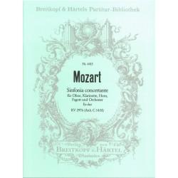 Mozart, Wolfgang Amadeus: Sinfonia concertante Es-Dur : für 4 Bläser und Orchester, KVAnh. C 14.01 Partitur