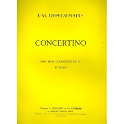 Depelsenaire, Jean-Marie: Concertino pour 3 clarinettes et piano parties