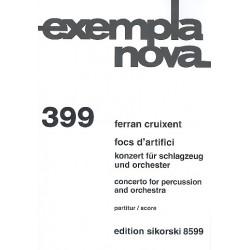 Cruixent, Ferran: Focs d'artifici für Percussion und Orchester Partitur