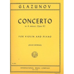 Glasunow, Alexander: Concerto in a minor op.82 : for violin and piano